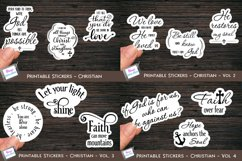 Christian Stickers Bundle - 12 Bible Verse Sticker Designs Product Image 1