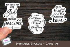 Christian Stickers Bundle - 12 Bible Verse Sticker Designs Product Image 2