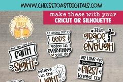 Christian Stickers Bundle Vol 2 | 10 Leopard Print Designs Product Image 2