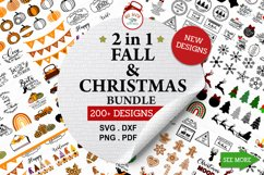 ULTIMATE Christmas and Fall, Autumn, thanksgiving bundle SVG Product Image 3