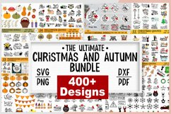 ULTIMATE Christmas and Fall, Autumn, thanksgiving bundle SVG Product Image 1