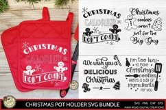 Funny Christmas quote for pot holder, Christmas calories don't count SVG file