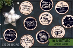 Christmas coasters - Funny quotes Product Image 1