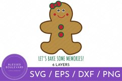 Christmas Cookie Let's Bake Some Memories SVG
