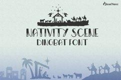 Christmas Dingbat Font   Nativity Font Product Image 1