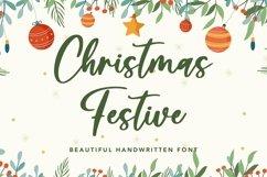 Web Font Christmas Festive - Beautiful Handwritten Font Product Image 1