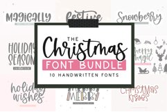 Christmas Font Bundle - 10 Fun Holiday Fonts for Crafters Product Image 1