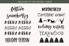 Christmas Font Bundle - 10 Fun Holiday Fonts for Crafters Product Image 2