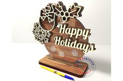 Christmas ornament holiday greetings happy new year
