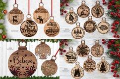 Christmas Ornament SVG Glowforge Laser Files Bundle Product Image 1