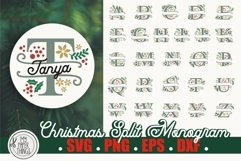 Christmas Split Monogram SVG Alphabet for shirts and more. These Christmas svg cut files are compatible with Cricut and Silhouette Cutting Machines.