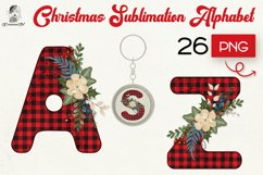 Christmas letters PNG bundle, Vintage Buffalo Plaid