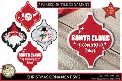 Christmas quote ornament, designs for arabesque tiles, Christmas SVG