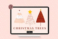 Christmas Tree Stamp Brushes for Procreate Product Image 1