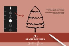 Christmas Tree Stamp Brushes for Procreate Product Image 3