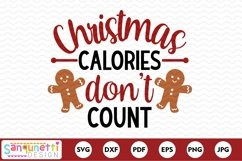Christmas calories don't count funny SVG Product Image 2