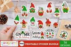 Christmas Gnome family and lettering PNG sticker bundle Product Image 1
