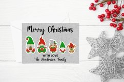 Christmas Gnome family and lettering PNG sticker bundle Product Image 3