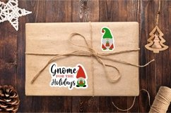 Christmas Gnome family and lettering PNG sticker bundle Product Image 5