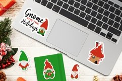 Christmas Gnome family and lettering PNG sticker bundle Product Image 4