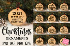 2021 Christmas Ornaments Bundle, Funny Ornament Sayings Svg Product Image 1