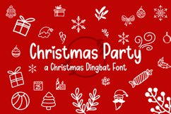 Christmas Party - Dingbat Font Product Image 1