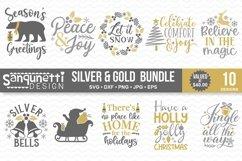 Christmas silver and Gold elegant SVG Bundle - 10 designs Product Image 1