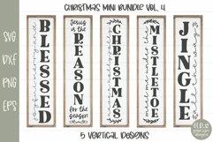 Huge Christmas Sign Bundle - 30 Vertical Christmas Designs Product Image 5
