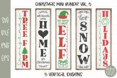 Huge Christmas Sign Bundle - 30 Vertical Christmas Designs Product Image 6