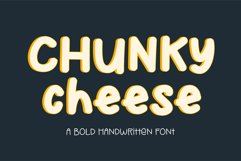 Chunky Cheese - a playful bold handwritten font Product Image 1