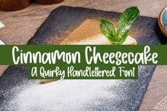 Web Font Cinnamon Cheesecake - A Quirky Handlettered Font Product Image 1