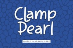 Web Font Clamp Pearl - Quirky Handrawn Font Product Image 1