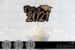 Black and gold graduation cake topper