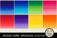Watercolor Background Paper - Brushed Ombre Watercolor Product Image 2