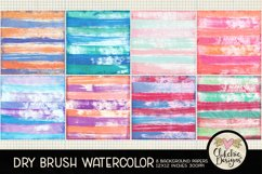 Watercolor Scrapbook Papers Dry Brush Watercolor Backgrounds Product Image 2