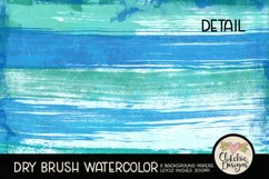 Watercolor Scrapbook Papers Dry Brush Watercolor Backgrounds Product Image 4