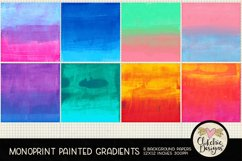 Painted Background Paper - Monoprint Gradient Grunge Product Image 2