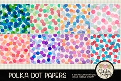 Polka Dot Scrapbook Papers - Polka Dot Papers Backgrounds Product Image 2