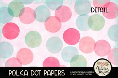 Polka Dot Scrapbook Papers - Polka Dot Papers Backgrounds Product Image 3