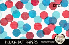 Polka Dot Scrapbook Papers - Polka Dot Papers Backgrounds Product Image 4