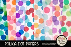 Polka Dot Scrapbook Papers - Polka Dot Papers Backgrounds Product Image 1