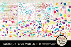 Watercolor Background Paper - Recycled Craft Paper Splatters Product Image 3