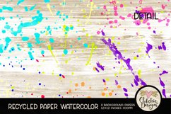 Watercolor Background Paper - Recycled Craft Paper Splatters Product Image 5