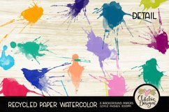 Watercolor Background Paper - Recycled Craft Paper Splatters Product Image 4