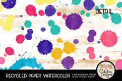 Watercolor Background Paper - Recycled Craft Paper Splatters Product Image 2