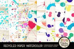 Watercolor Background Paper - Recycled Craft Paper Splatters Product Image 1