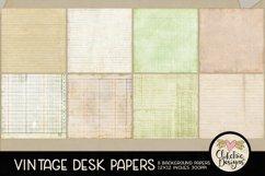 Vintage Scrapbook Papers - Vintage Desk Papers Backgrounds Product Image 3
