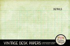 Vintage Scrapbook Papers - Vintage Desk Papers Backgrounds Product Image 4