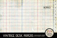 Vintage Scrapbook Papers - Vintage Desk Papers Backgrounds Product Image 5