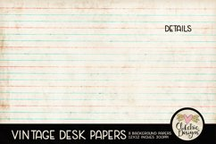 Vintage Scrapbook Papers - Vintage Desk Papers Backgrounds Product Image 2